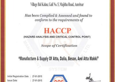 Kissan Foods HACCP ISO