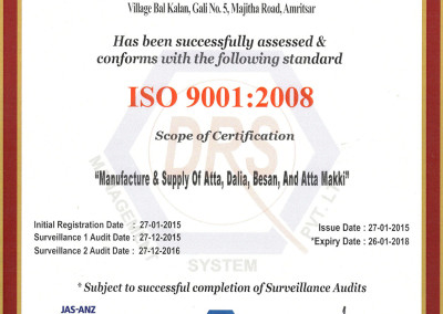 Kissan Foods ISO 9001:2008